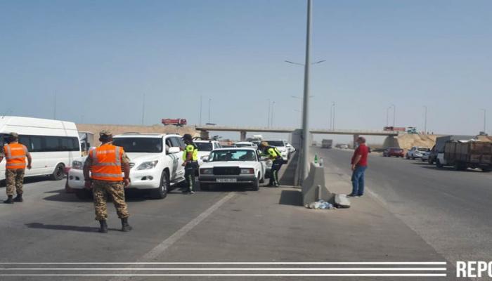 Rayonlara gedən sürücülər geri qaytarıldı