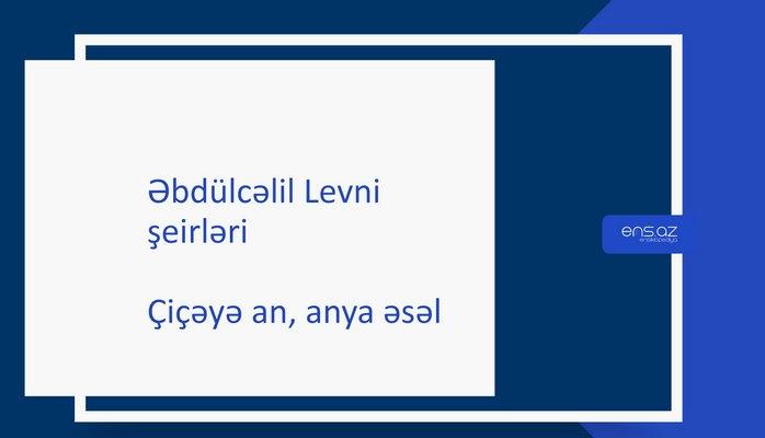 Əbdülcəlil Levni - Çiçəyə an, anya əsəl