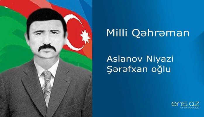 Niyazi Aslanov Şərəfxan oğlu