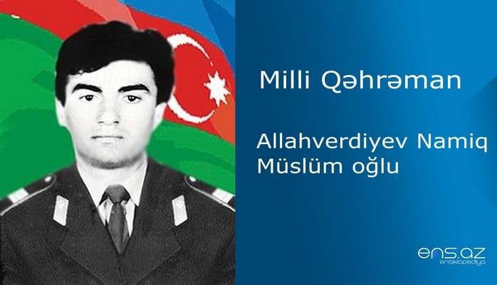 Namiq Allahverdiyev Müslüm oğlu