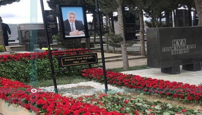 Azad Rəhimov dəfn olundu