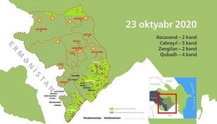 Azərbaycan ordusunun işğaldan azad etdiyi 154 məntəqə interaktiv xəritədə