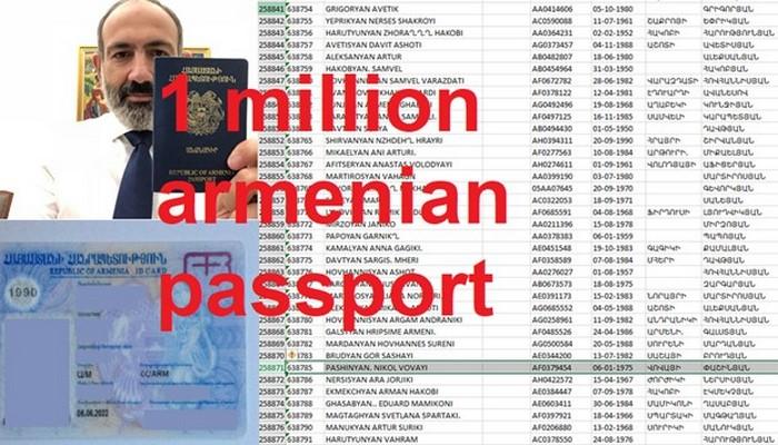 Ermənilərin 1 milyon pasport məlumatları ələ keçirildi