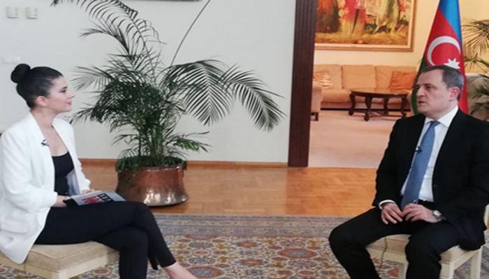 Глава МИД Азербайджана дал интервью телеканалу CNN Turk