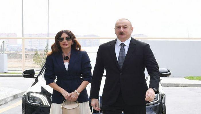 İlham Əliyev və Mehriban Əliyeva təməlqoyma mərasimində