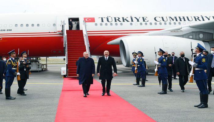 İlham Əliyev və Rəcəb Tayyib Ərdoğan Füzuli hava limanının açılışını etdi