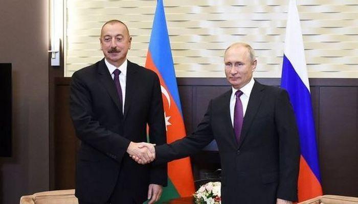 Putin İlham Əliyevi Qurban bayramı münasibətilə təbrik etdi